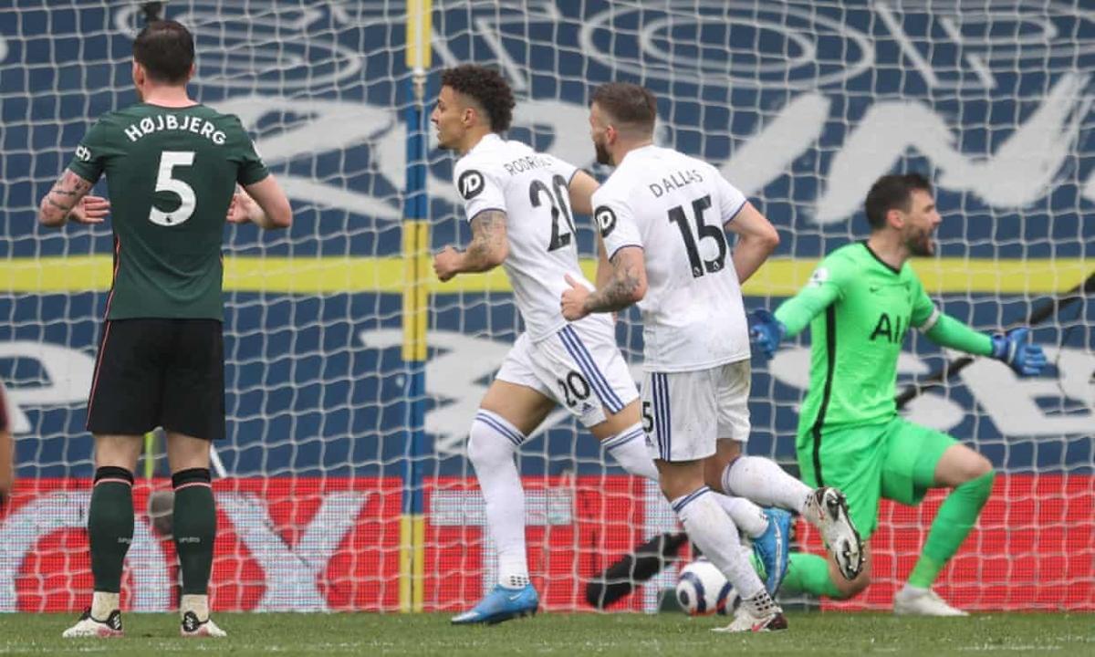 Thua thảm 1-3 trước Leeds, Tottenham vẫn giữ được vị trí thứ 6 (dự Europa League mùa sau) trên BXH Premier League nhưng đứng trước nguy cơ bị Liverpool và Everton vượt mặt.