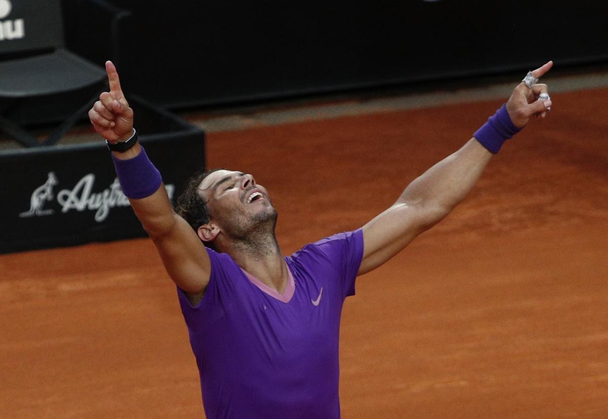 Thắng chung cuộc 7-5, 1-6, 6-3 sau 2 giờ 49 phút thi đấu, Nadal có lần thứ 10 vô địch Rome Masters.