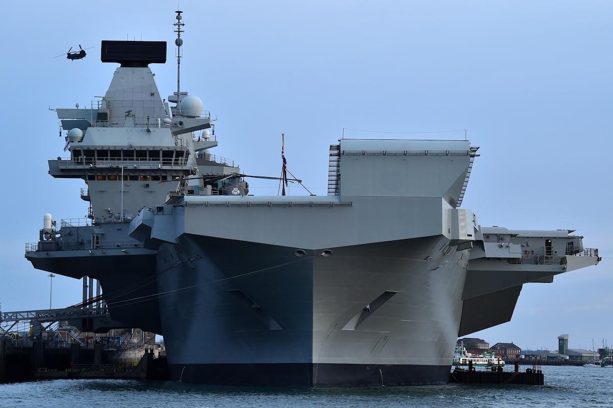 Quân đội Anh có kế hoạch đưa tàu sân bay HMS Queen Elizabeth ở Thái Bình Dương như một phần trong nỗ lực đối phó với Trung Quốc. Ảnh: AFP