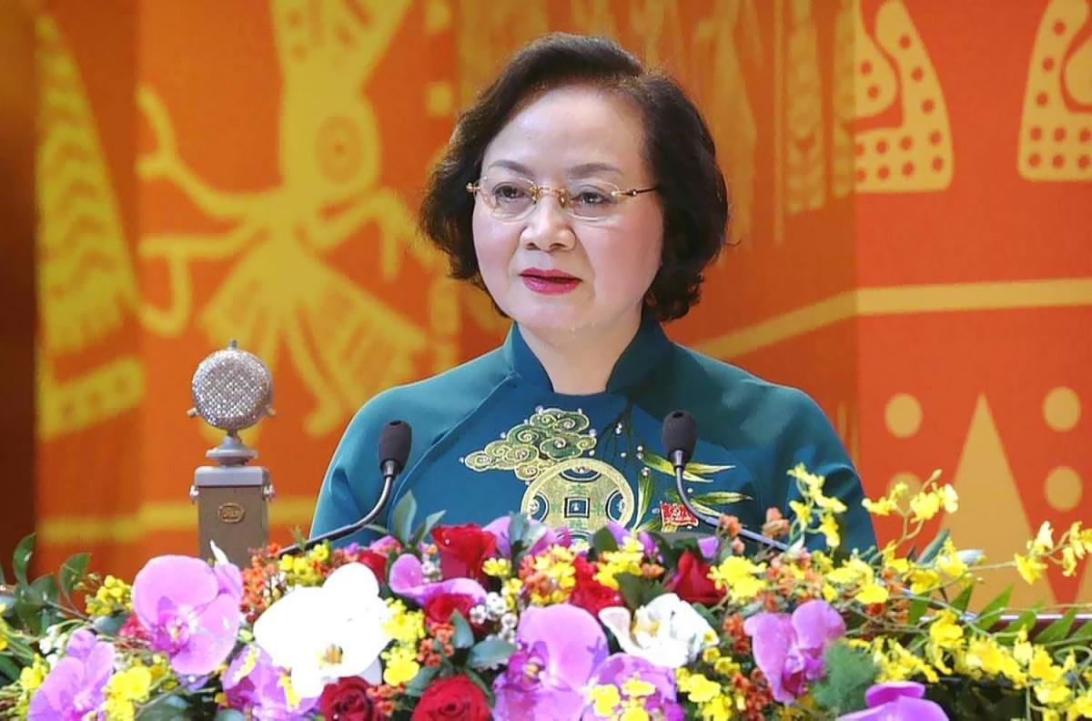 Bà Phạm Thị Thanh Trà, Bộ trưởng Bộ Nội vụ làm Phó Trưởng ban Thường trực Ban Chỉ đạo cải cách hành chính của Chính phủ. Ảnh Báo Chính phủ