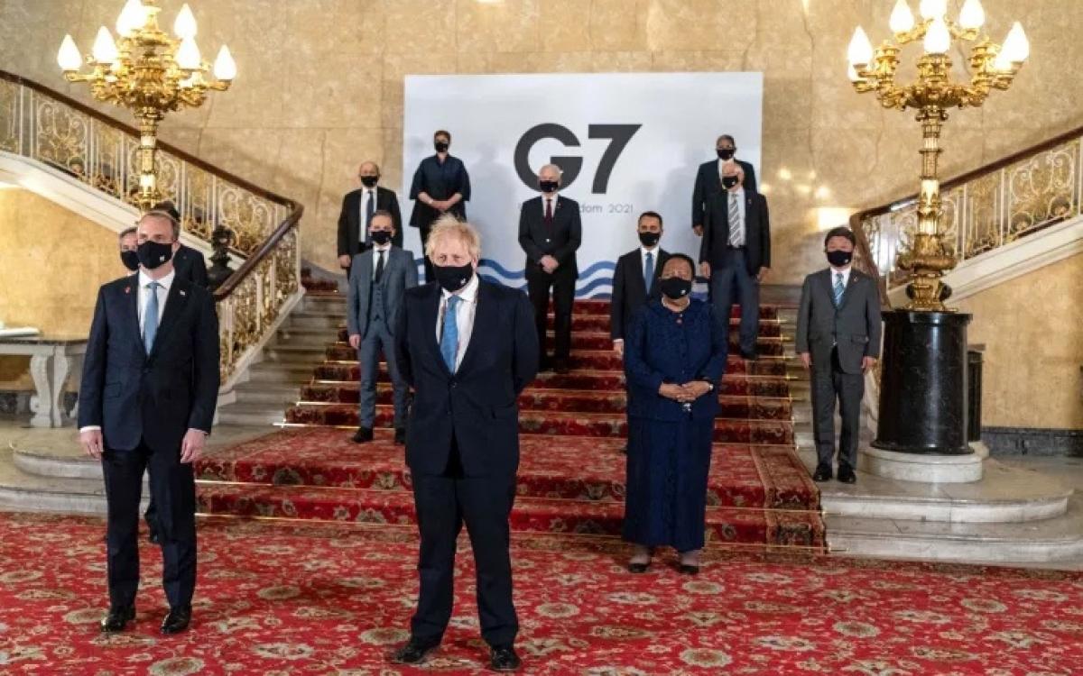 Các quan chức G7 năm 2021. Ảnh: AFP.
