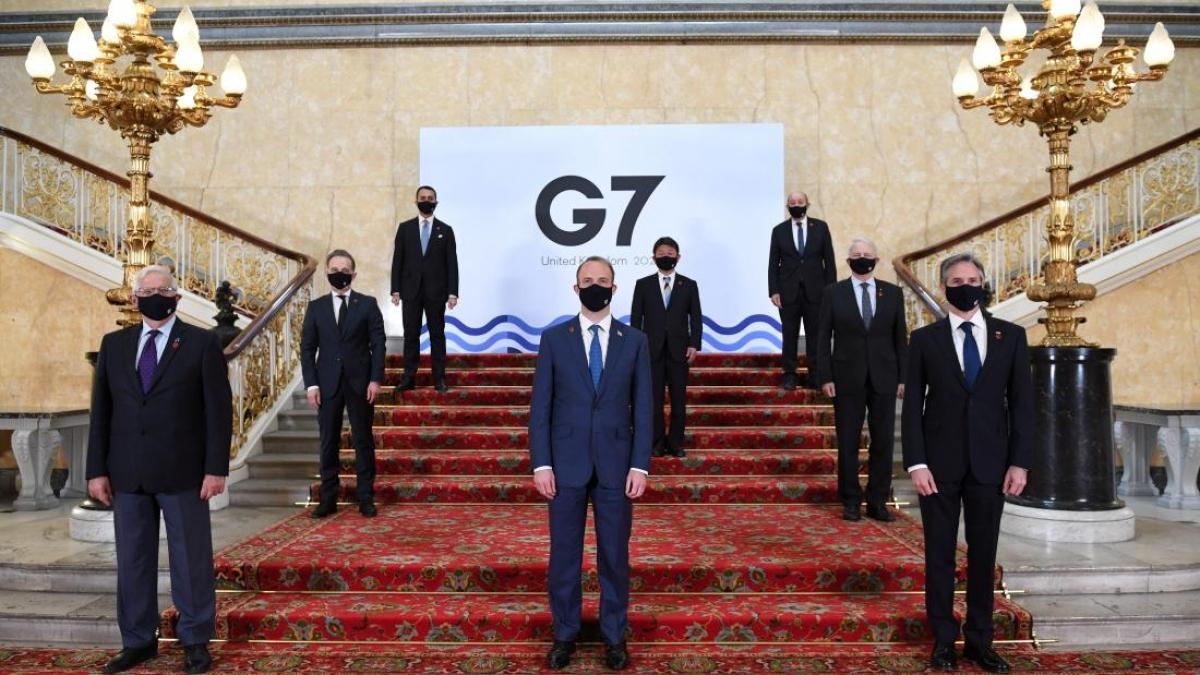 Hội nghị Ngoại trưởng G7. Ảnh: Reuters