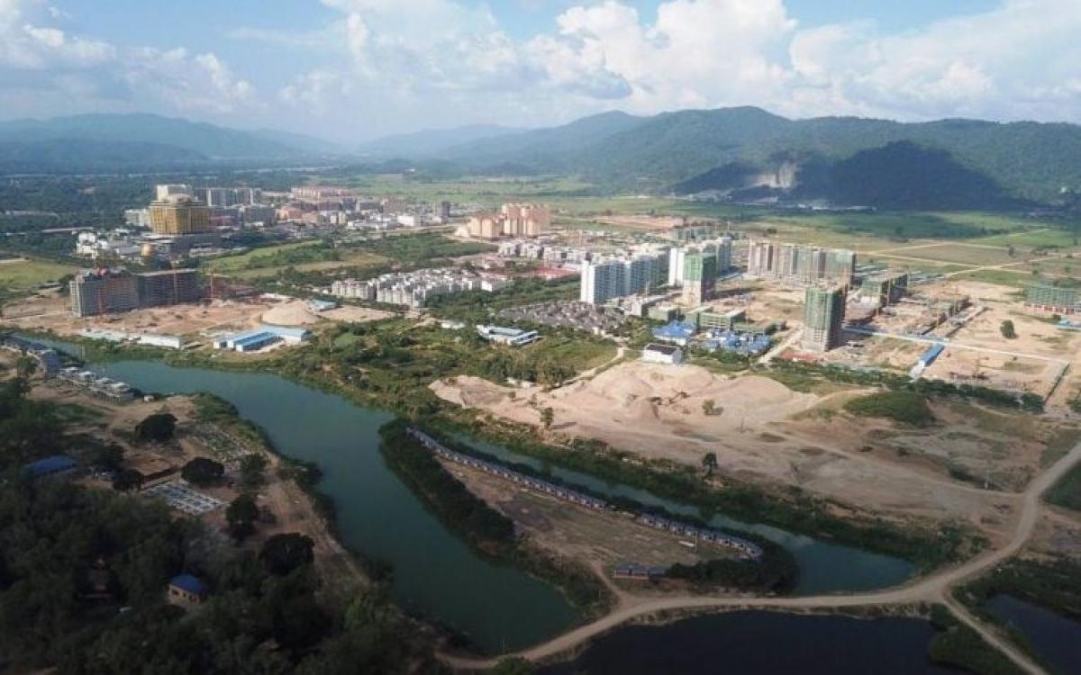 Đặc khu kinh tế Tam Giác Vàng ở huyện Tonpheung, tỉnh Bokeo, Bắc Lào- nơi đang có hàng trăm ca mắc Covid-19.