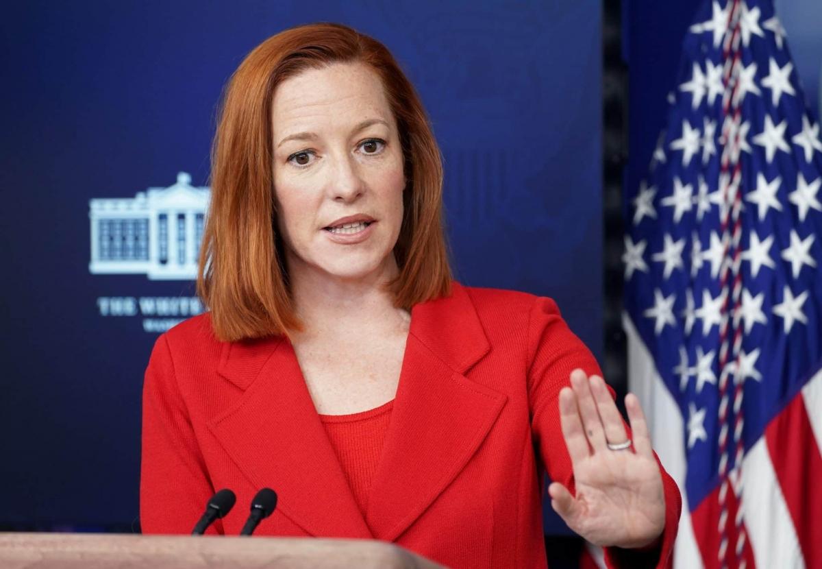 Thư ký Báo chí Nhà Trắng Jen Psaki. Ảnh: Reuters