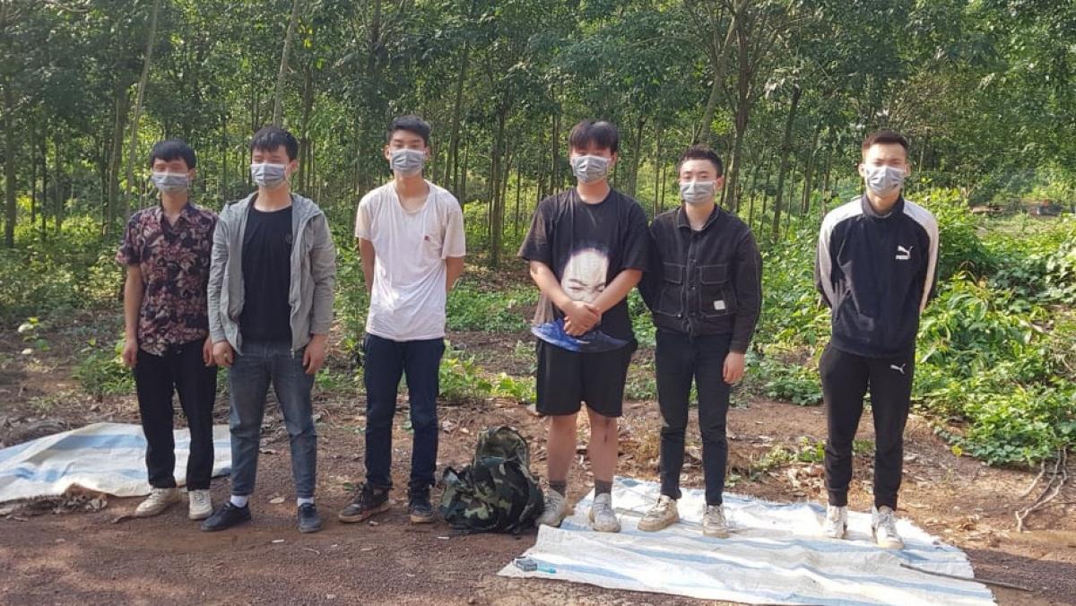 6 người Trung Quốc nhập cảnh trái phép bị phát hiện. Ảnh: HA