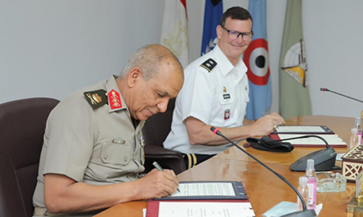 Ai Cập và Mỹ ký hợp tác quân sự. Ảnh: Ahramonline