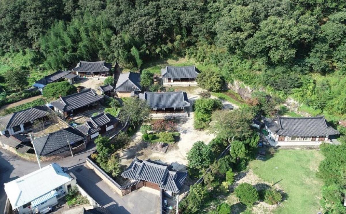 Ngôi làng tại Uiryeong, quê hương của ông Lee Byung-chull -người sáng lập Samsung.Nguồn: Yonhap