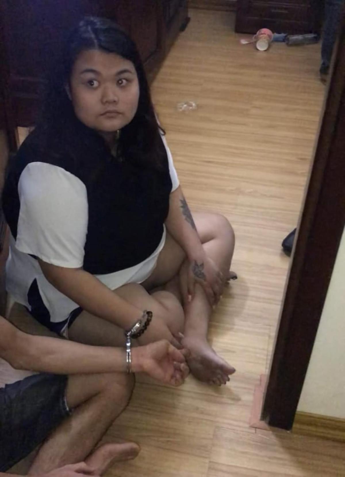 Trần Thị Hà Phương bị bắt tại khách sạn.