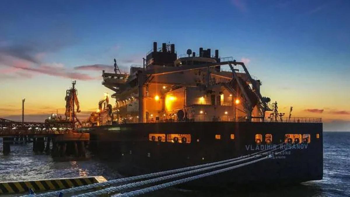 Một tàu chở khí thiên nhiên hóa lỏng tại một cảng của Trung Quốc. Nguồn: AFP