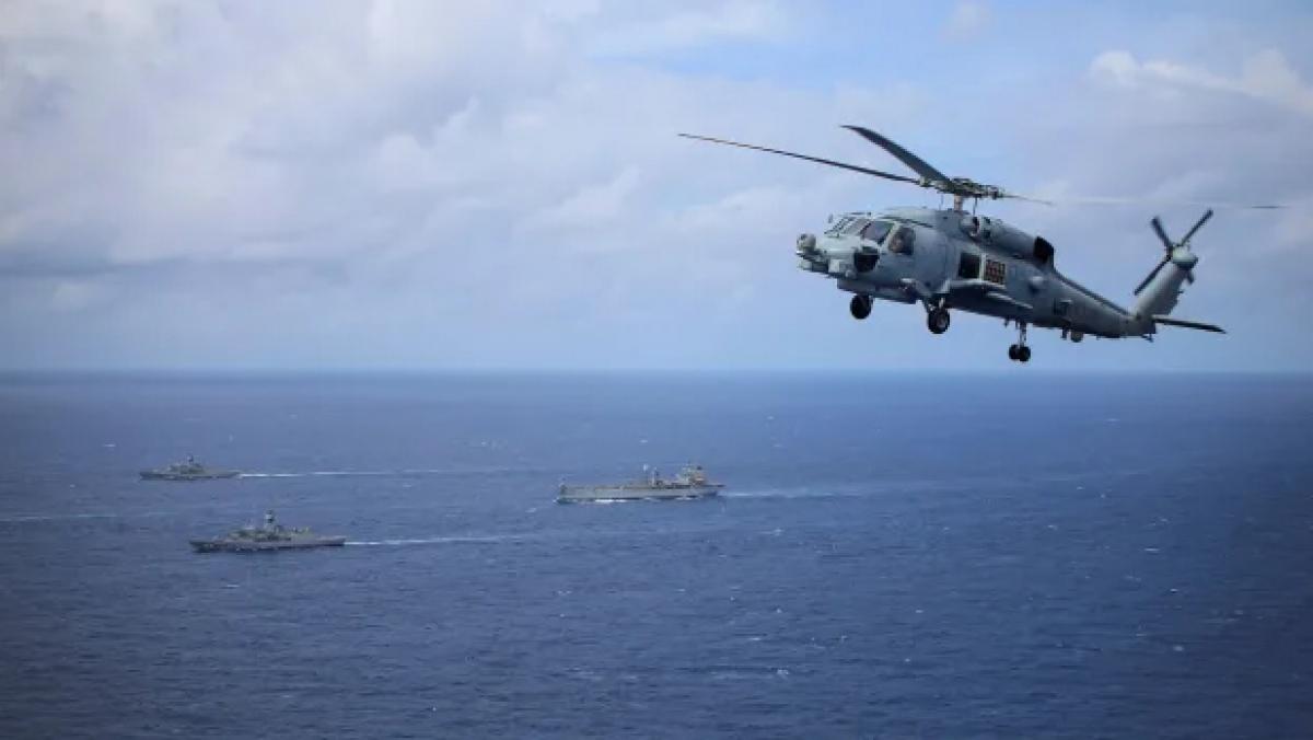 Ba tàu chiến của Australia đi qua Biển Đông vào tuần trước. Nguồn: AFR