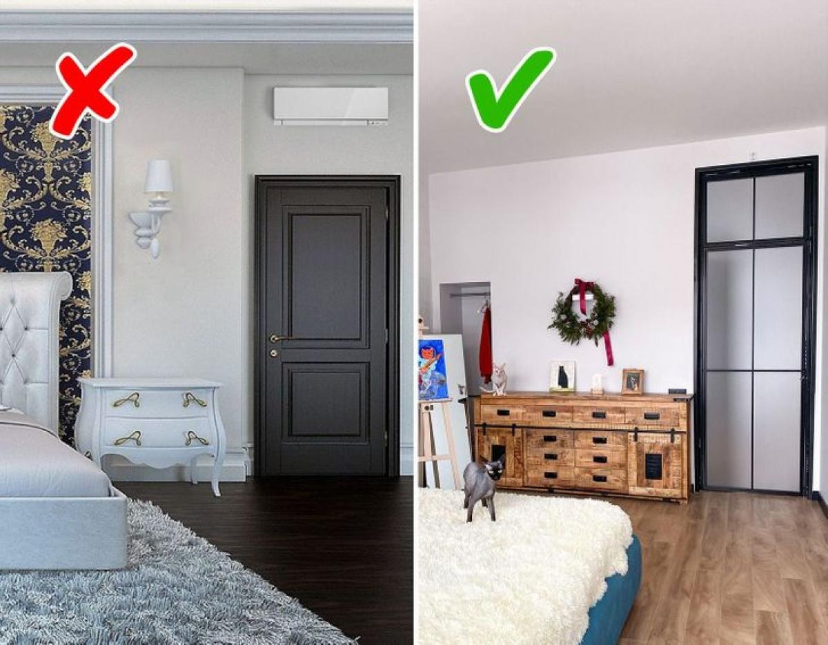 Việc lắp các cánh cửa cao gần đến trần sẽ khiến cho nhà bạn trông rộng rãi hơn hẳn.
