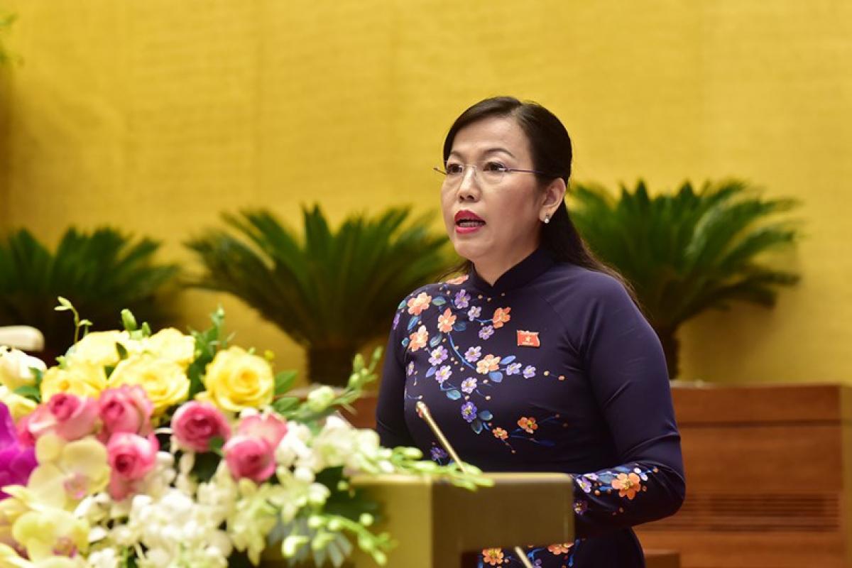 Bà Nguyễn Thanh Hải-Trưởng đoàn đại biểu Quốc hội khóa XIV của tỉnh Thái Nguyên