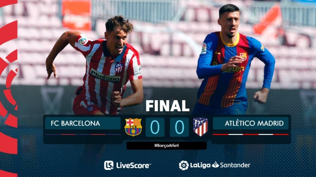Barca và Atletico Madrid cầm chân nhau trong cuộc đua vô địch. (Ảnh: La Liga)