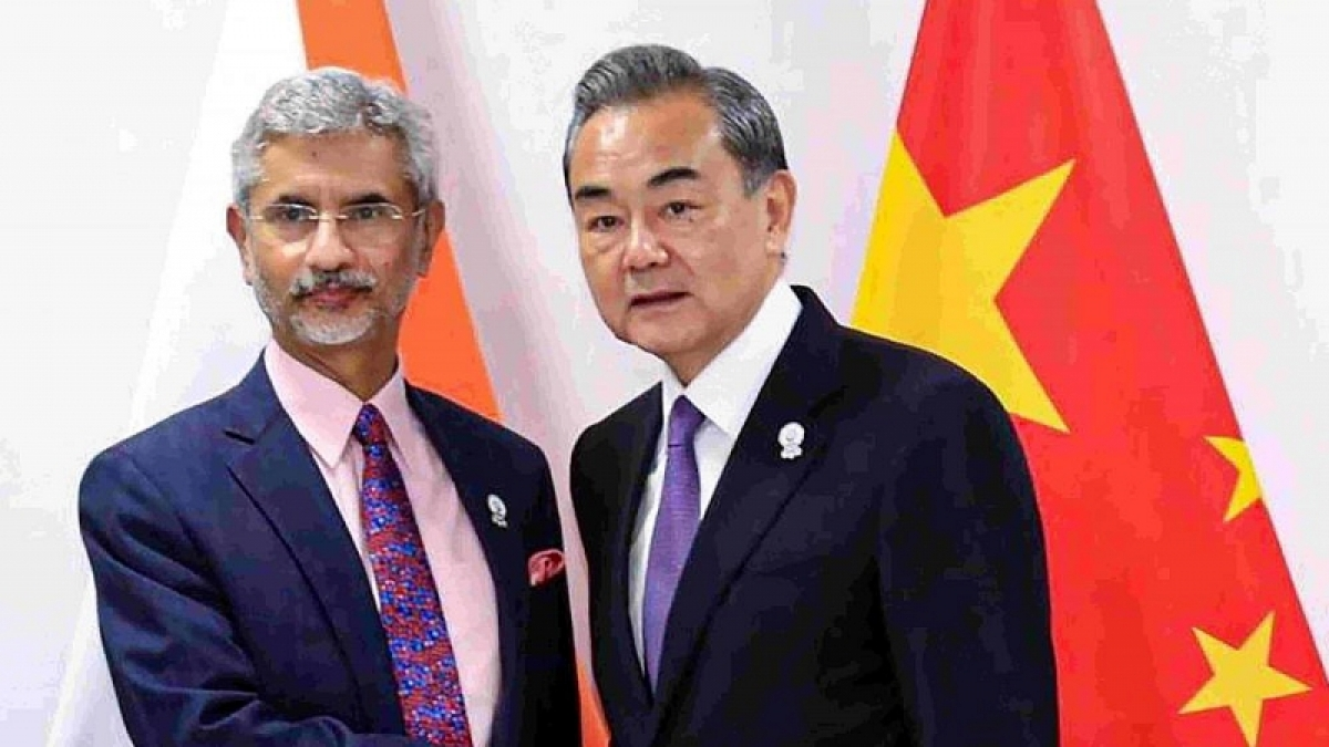 Ngoại trưởng Ấn Độ Subrahmanyam Jaishankar và Ngoại trưởng Trung Quốc Vương Nghị. (Nguồn: PTI)