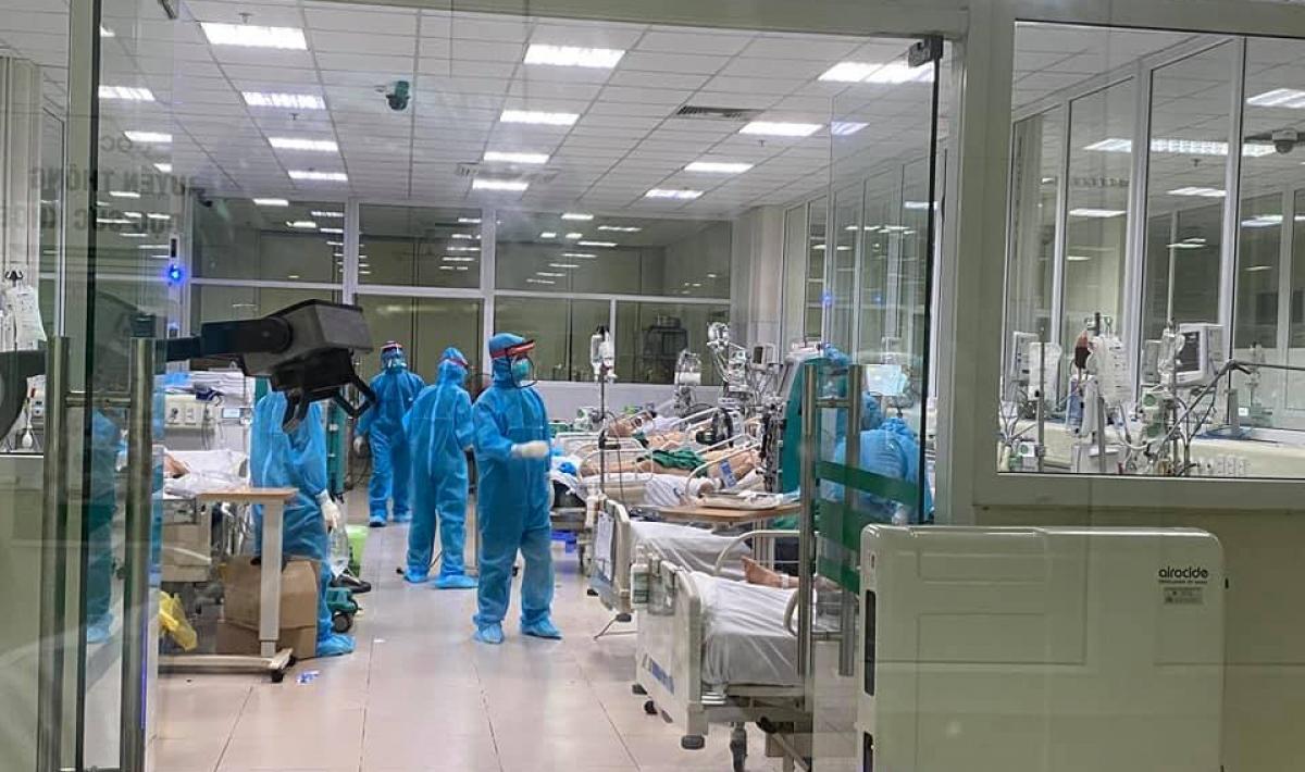 Khu điều trị bệnh nhân COVID-19 tại Bệnh viện Bệnh Nhiệt đới Trung ương.
