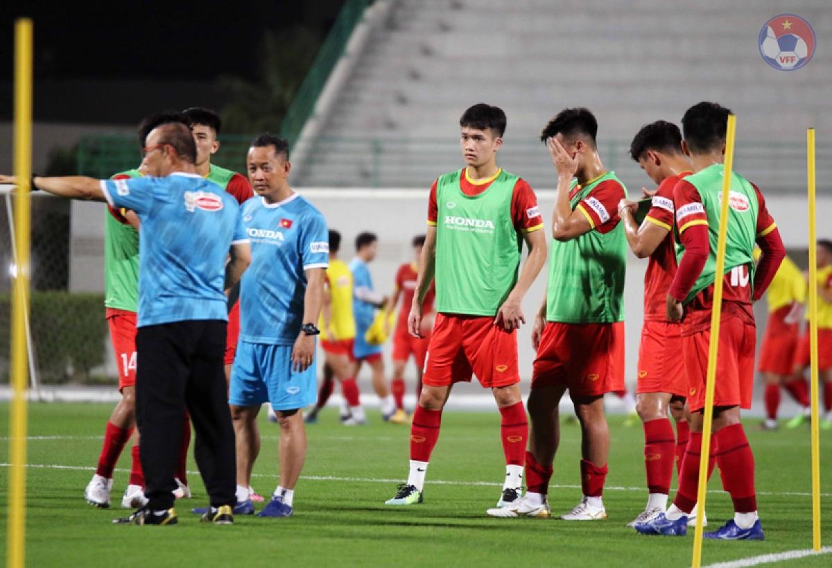 ĐT Việt Nam chỉ có duy nhất trận giao hữu với Jordan trước khi bước vào loạt trận quyết định của vòng loại thứ hai World Cup 2022 khu vực châu Á. (Ảnh: VFF).