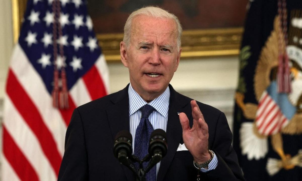 Tổng thống Biden họp báo tại Nhà Trắng hôm 4/5. Ảnh:AFP