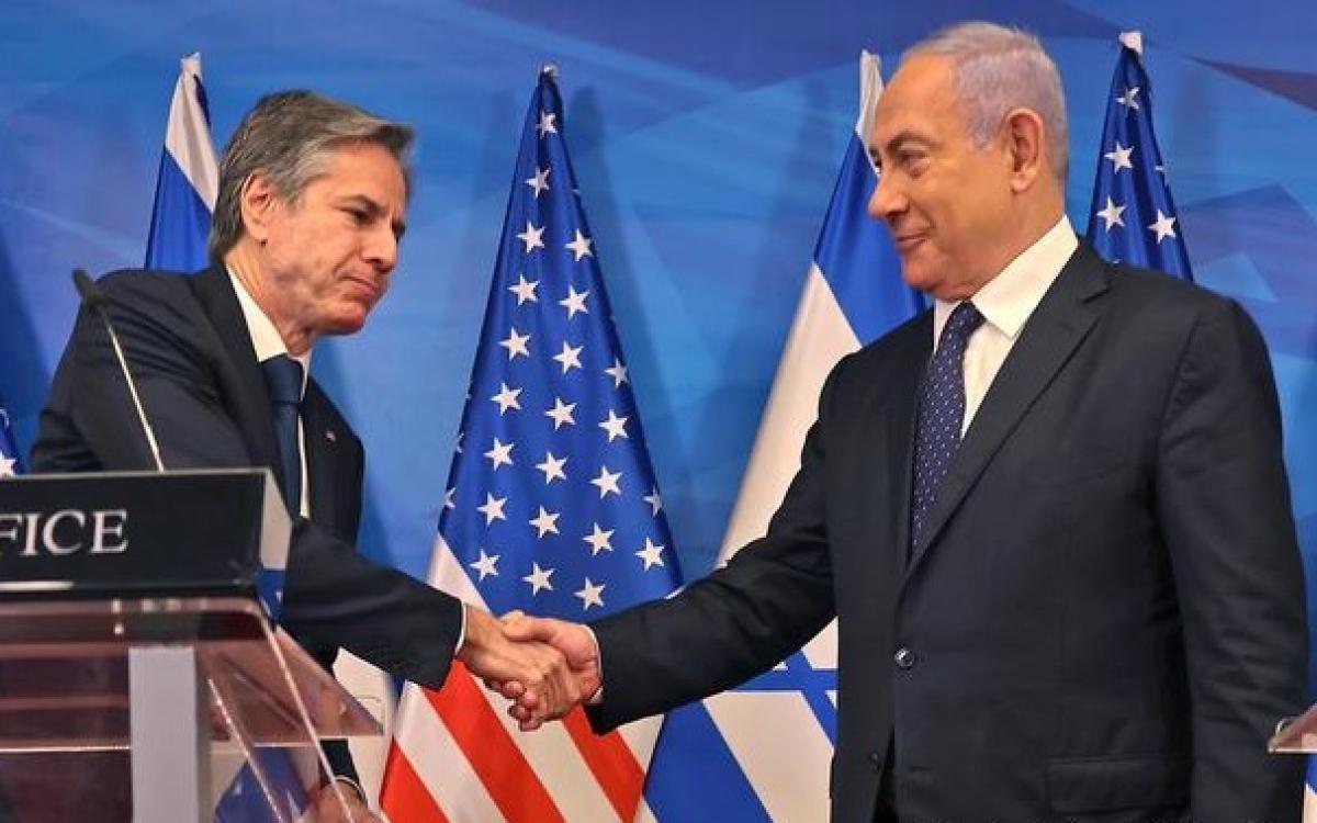 Ông Blinken và ông Netanyahu. Ảnh: AP.