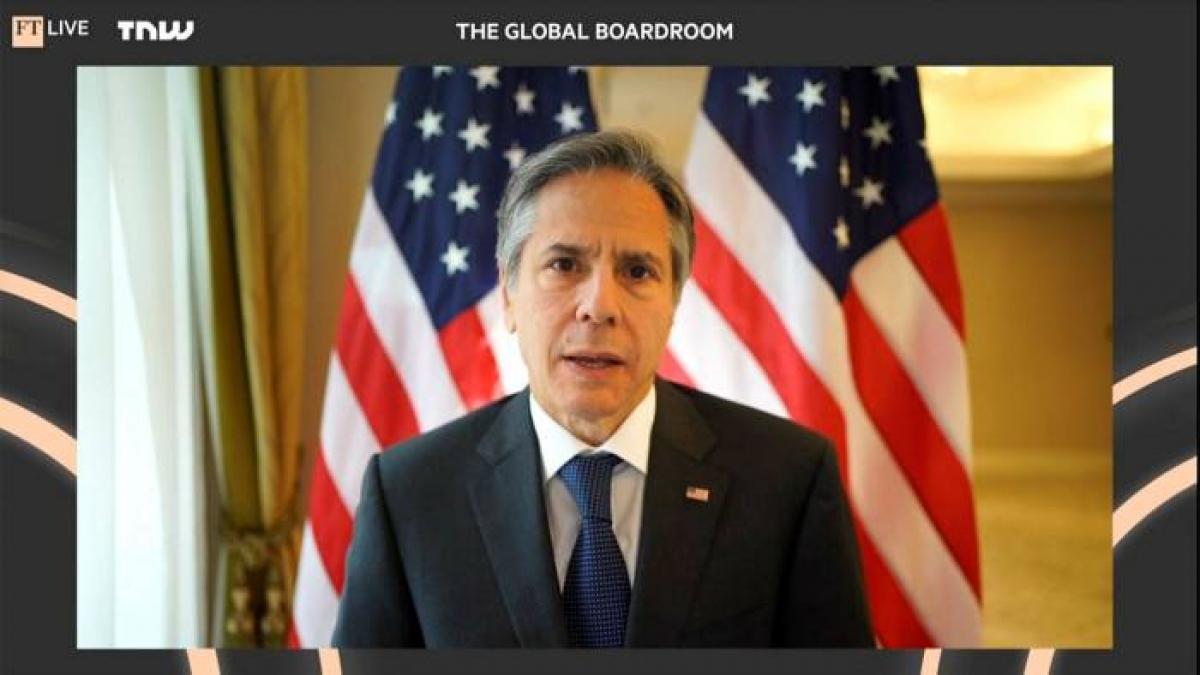 """Ngoại trưởng Mỹ Antony Blinken phản đối tuyên bố cho rằng quan hệ Mỹ - Trung đang trong tình trạng """"Chiến tranh Lạnh"""". Ảnh: Financial Times"""