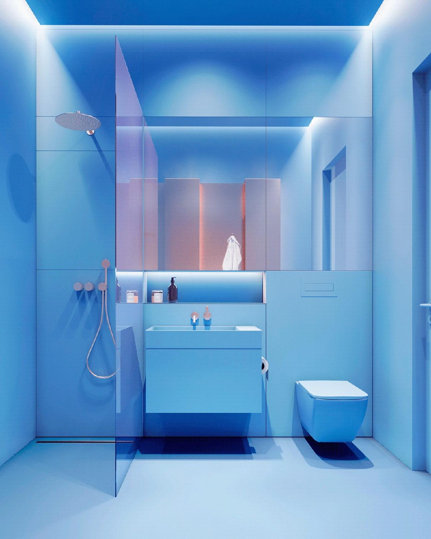 Không gian nhà vệ sinh mang lại cảm giác hiện đại./.