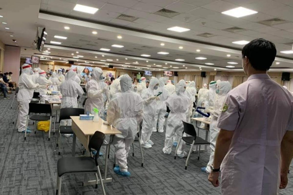 Kết quả test nhanh tại Công ty TNHH Điện tử Samsung Việt Nam đã có kết quả âm tính.