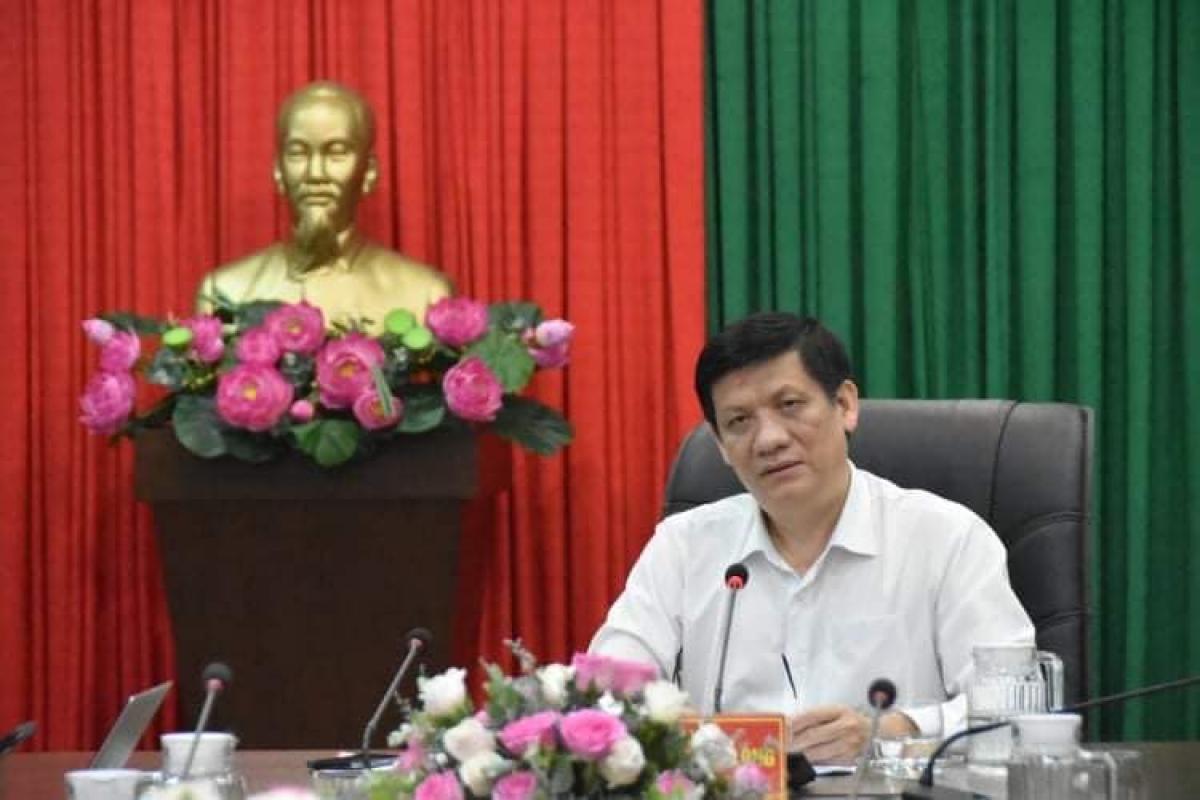GS.TS Nguyễn Thanh Lo.ng, Bộ trưởng Bộ Y tế. (Ảnh: Khôi Nguyên)