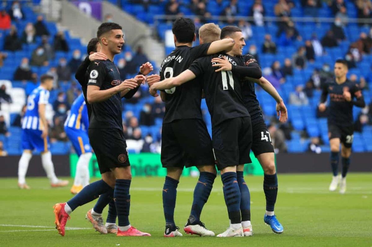 Tân vô địch Man City có khởi đầu như mơ trong chuyến làm khách trên sân Brighton ở vòng áp chót Premier League.