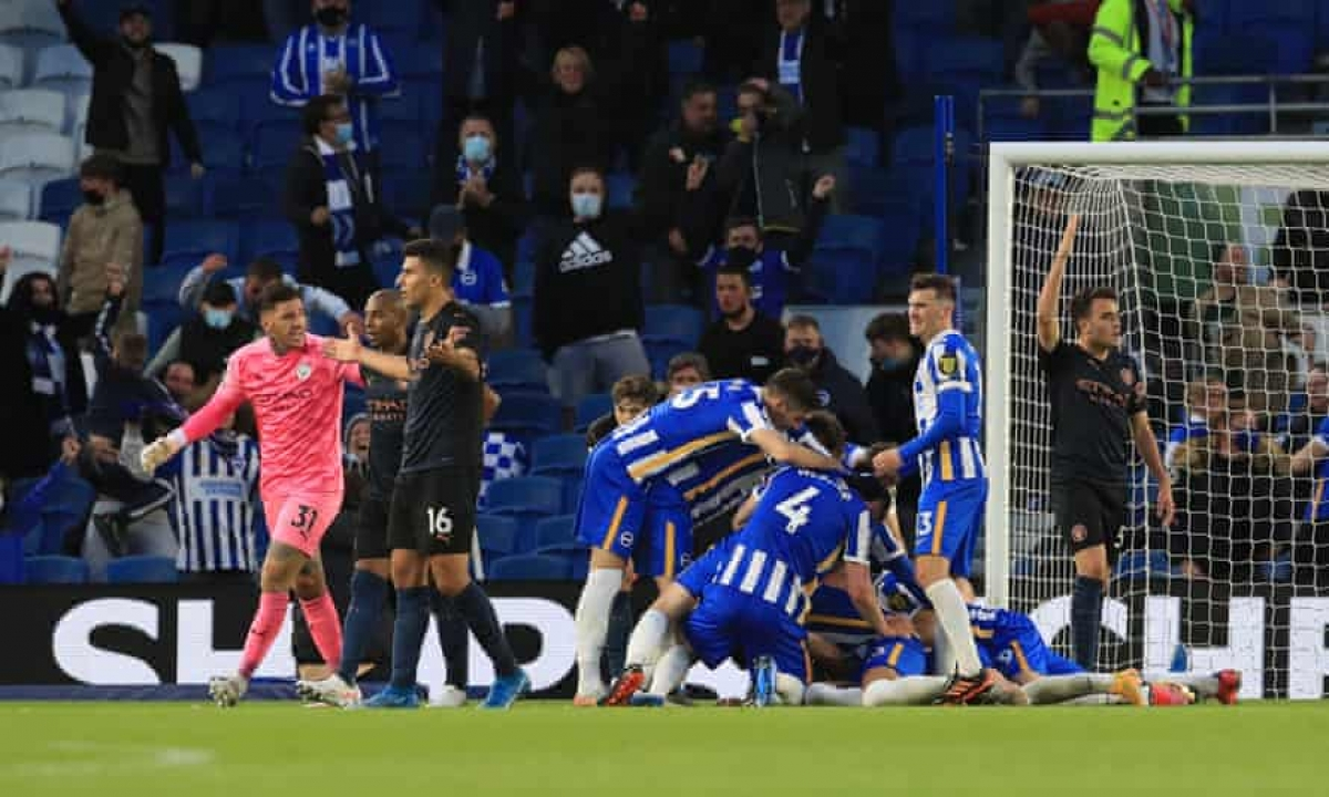 Tân vô địch Man City nhận thất bại ê chề trước một Brighton từng phải vật lộn trong cuộc chiến trụ hạng.