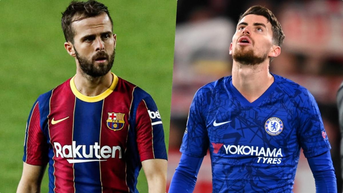 Barca dùng Miralem Pjanic gạ Chelsea đổi Jorginho (Ảnh: Getty).
