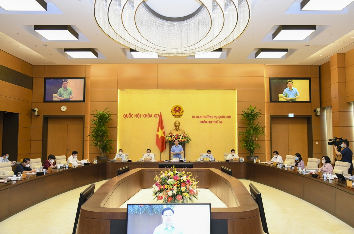 Phiên họp thứ 56 của Ủy ban Thường vụ Quốc hội (Ảnh: quochoi.vn)