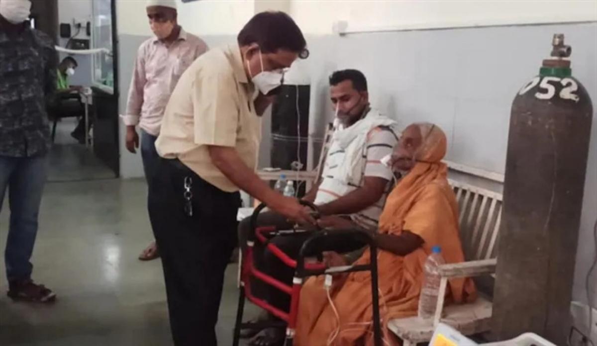 Cụ bà Ấn Độ tỉnh dậy ngay trước khi bị đưa đi hỏa thiêu. (Ảnh: India Today)
