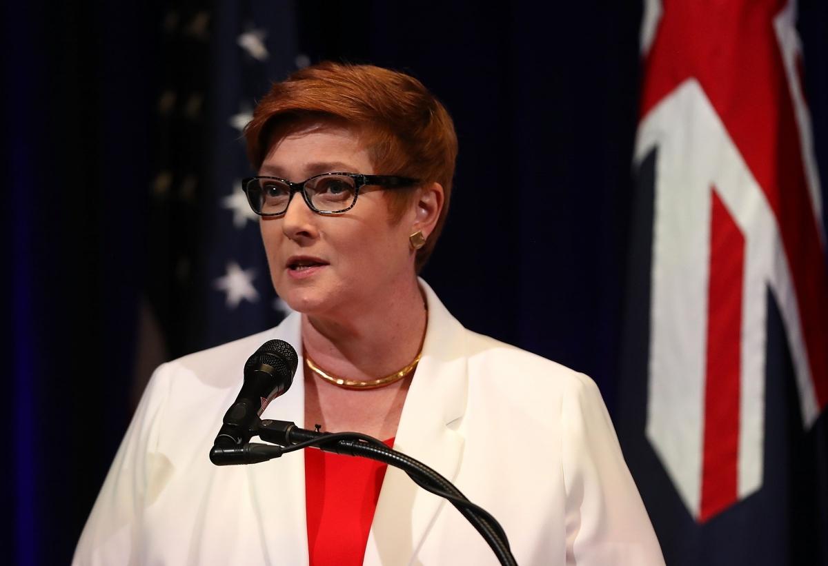 Ngoại trưởng Australia Marise Payne. Ảnh: SCMP.