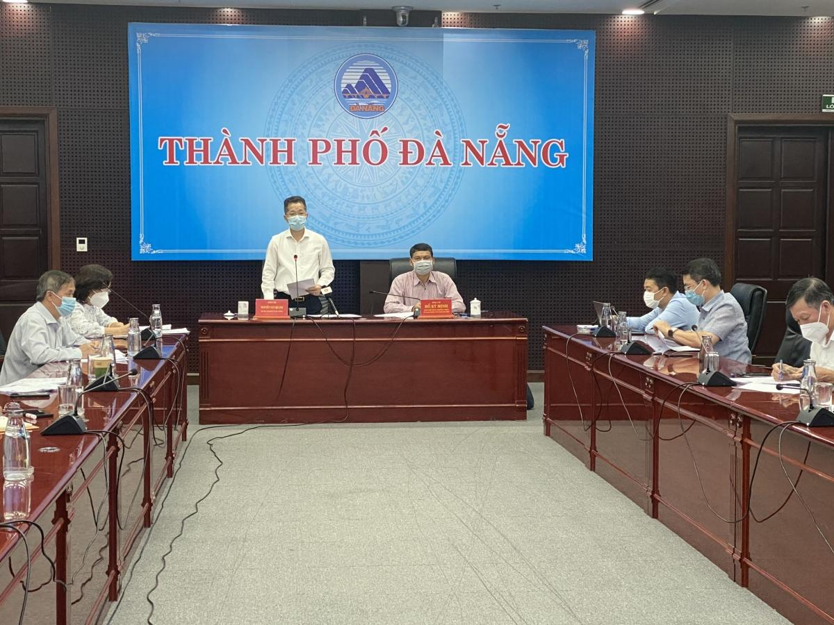 Ông Nguyễn Văn Quảng- Bí thư Thành ủy Đà Nẵng phát biểu tại buổi làm việc