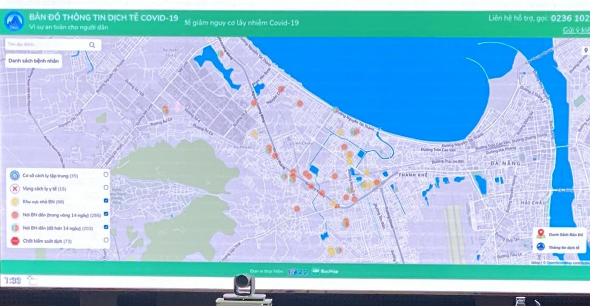 Đà Nẵng xây dựng bản đồ Thông tin dịch tễ Covid-19