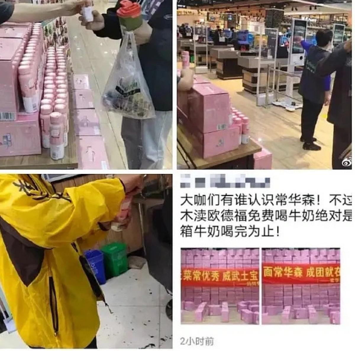 Hình ảnh lãng phí sữa để lấy mã số bầu chọn cho thí sinh. Ảnh:Sina.