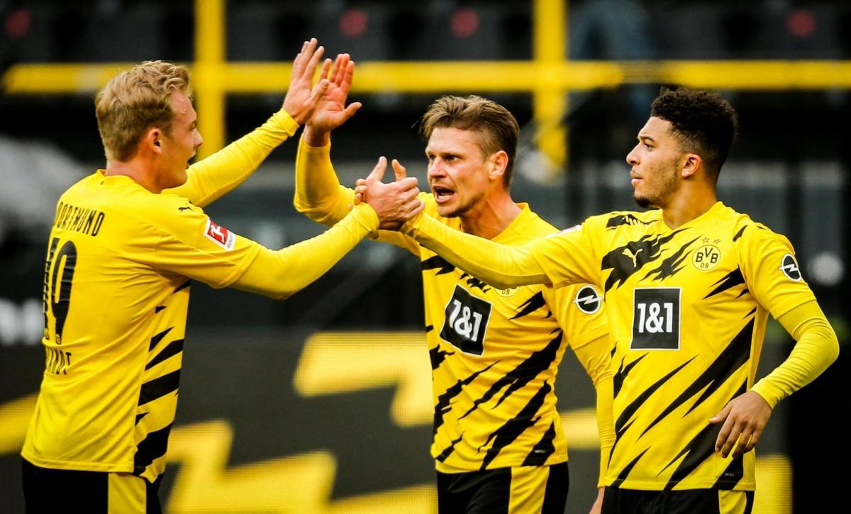 Dortmund thắng nghẹt thở Leipzig. (Ảnh: Getty)