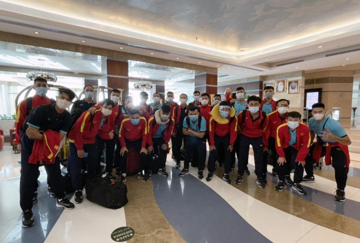 ĐT Futsal Việt Nam tại khách sạn Oceanic - nơi đóng quân của đội trong suốt thời gian tập luyện và thi đấu 2 trận play-off.