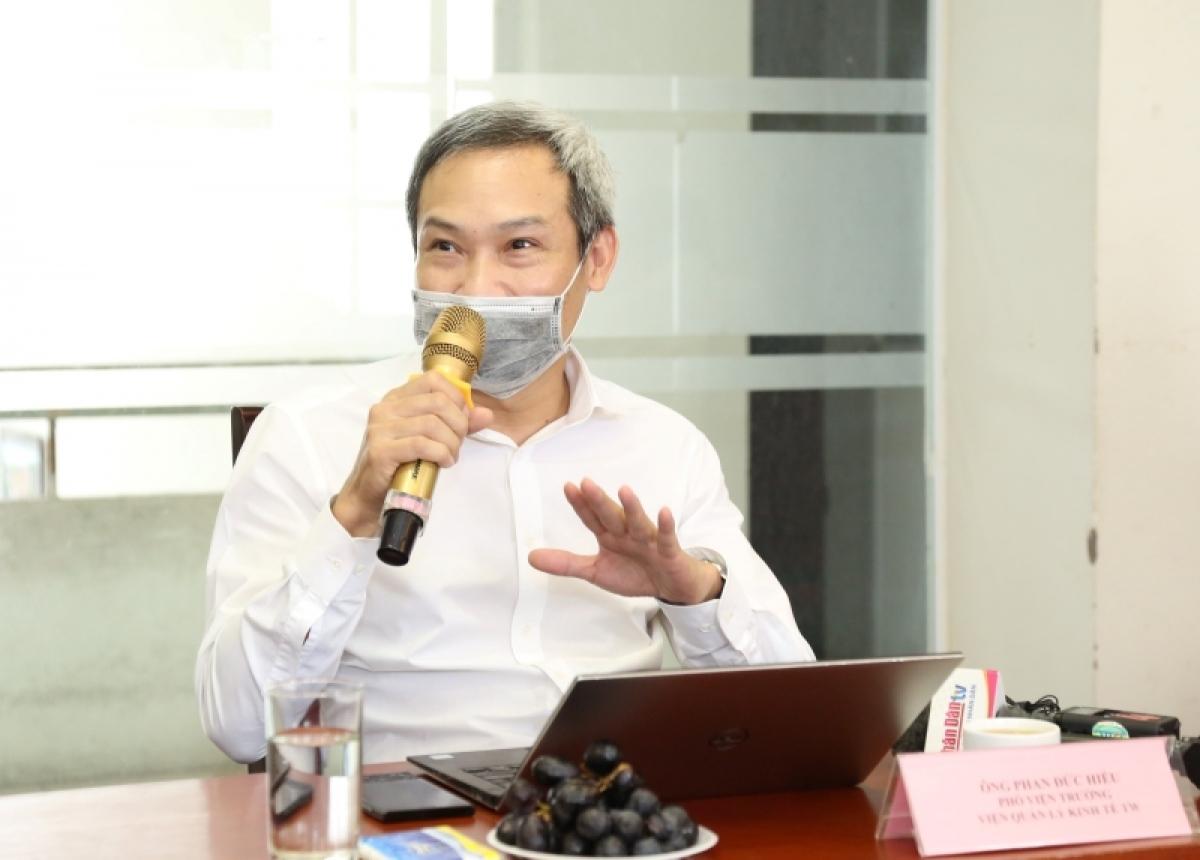 Chuyên gia kinh tế Phan Đức Hiếu – Phó Viện trưởng Viện Quản lý kinh tế Trung ương.