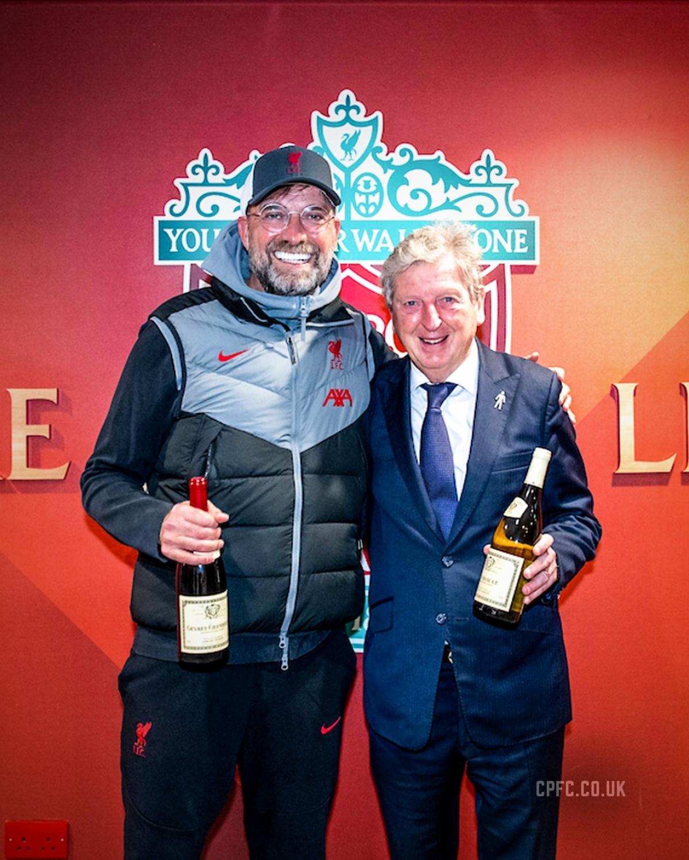 HLV Jurgen Klopp và HLV Roy Hodgson. (Ảnh: CPFC)