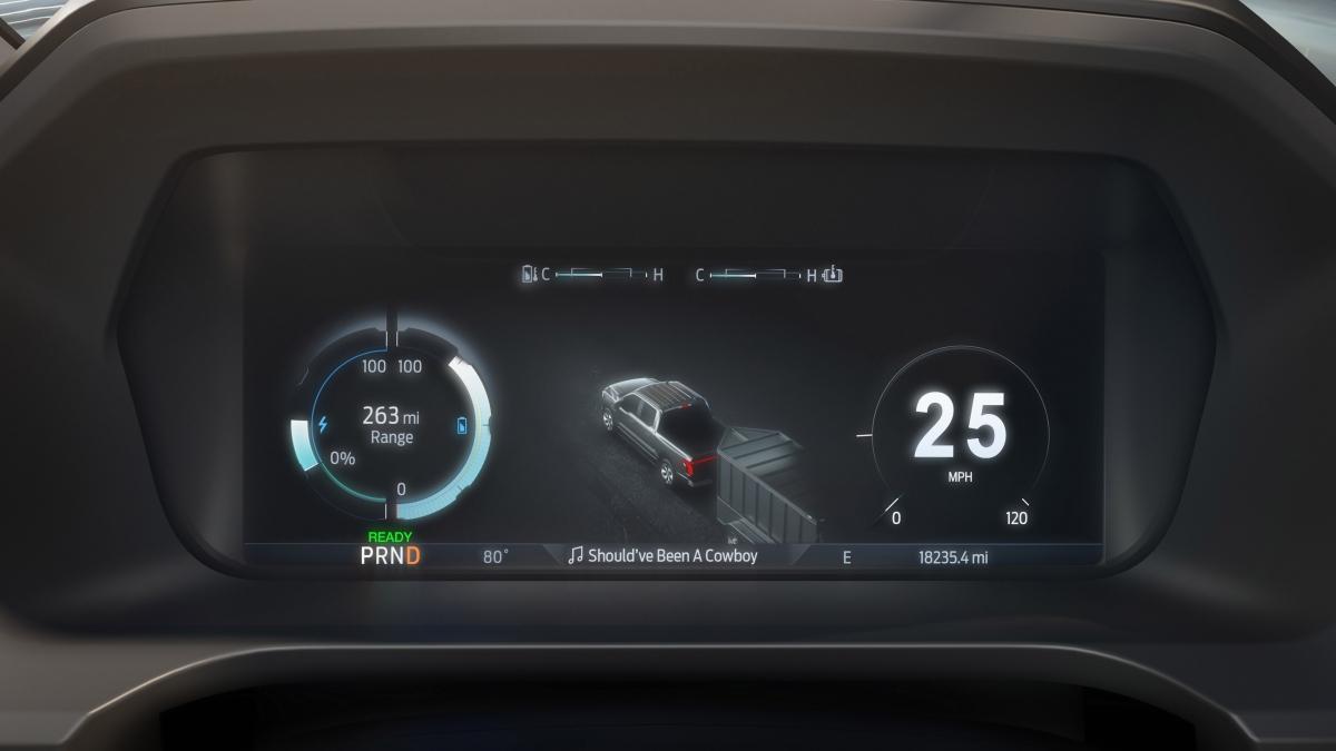 Ford F150 Lightning được trang bị hàng loạt công nghệ hiện đại giúp kiểm soát chiếc xe mọi lúc.