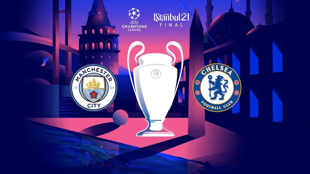 """Chelsea và Man City tạo nên trận chung kết """"toàn Anh"""" thứ 3 trong lịch sử Champions League. (Ảnh: UEFA)."""
