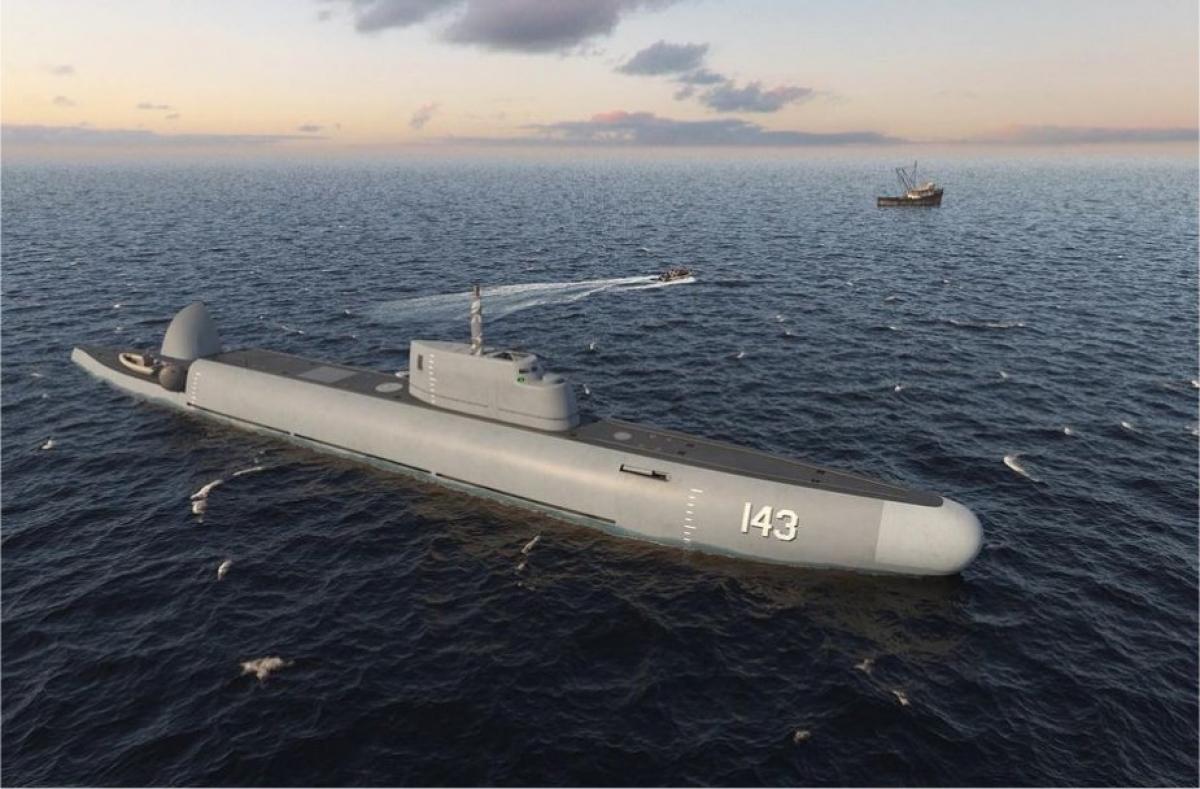 Thiết kế của tàu tuần tra có khả năng lặn dưới nước trong dự ánSentinel. Ảnh: TASS