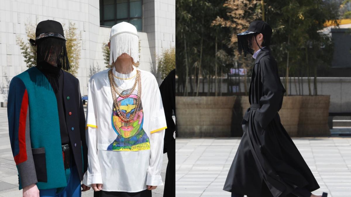Phụ kiện mũ lưỡi trai độc lạ lên ngôi tại tuần lễ thời trang Seoul.