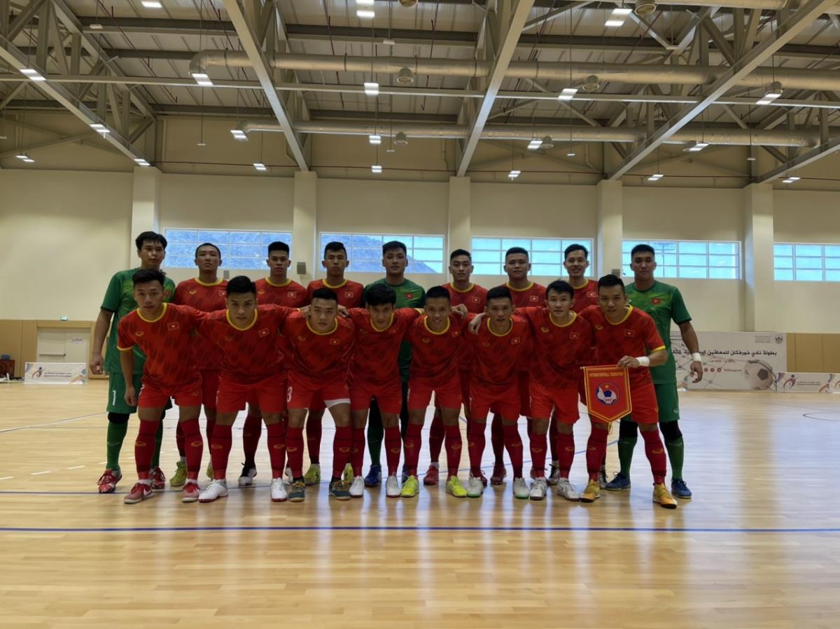 ĐT Futsal Việt Nam trong trận giao hữu với Iraq tối 17/5. (Ảnh: VFF).