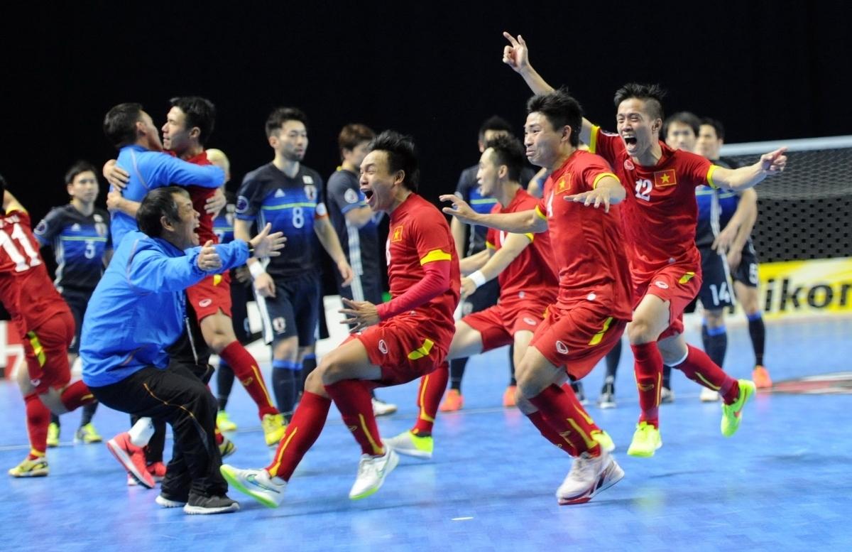 ĐT Futsal Việt Nam từng giành vé dự VCK World Cup Futsal 2016. (Ảnh: VFF)