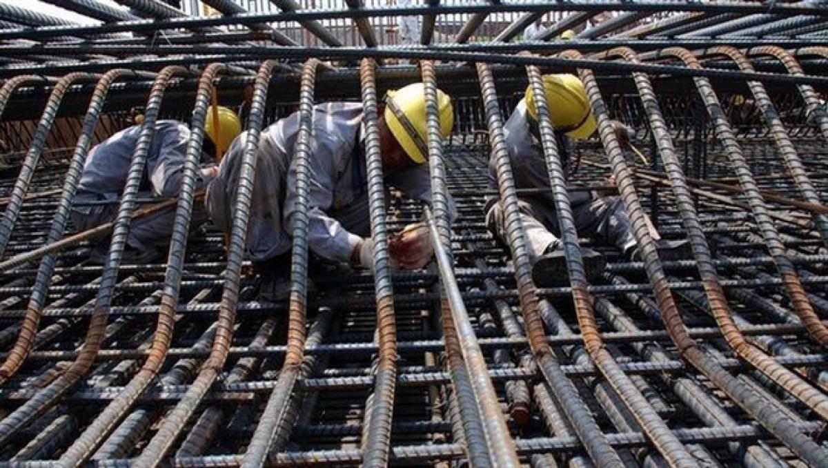 Giá thép tăng mạnh nhất trong các loại vật liệu xây dựng. Ảnh minh họa: KT