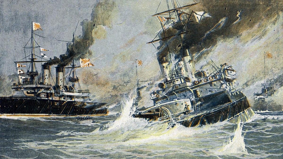 Trận chiến Tsushima, dẫn đến sự kết thúc của cuộc chiến tranh với Nhật, là một thảm họa đối với Nga. Ảnh: RBTH