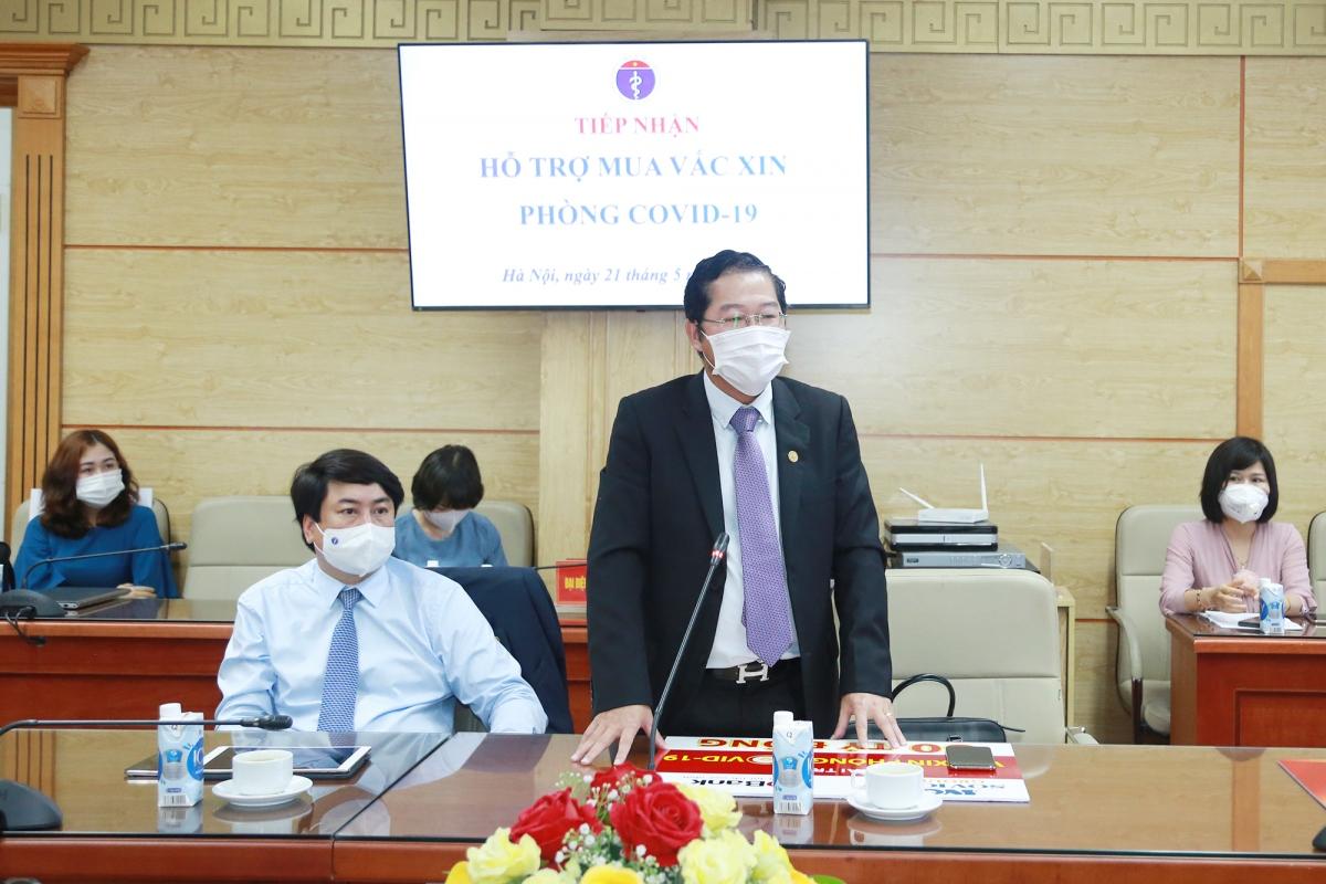 Ông Phạm Quốc Thanh – Tổng Giám đốc HDBank phát biểu tại buổi lễ.