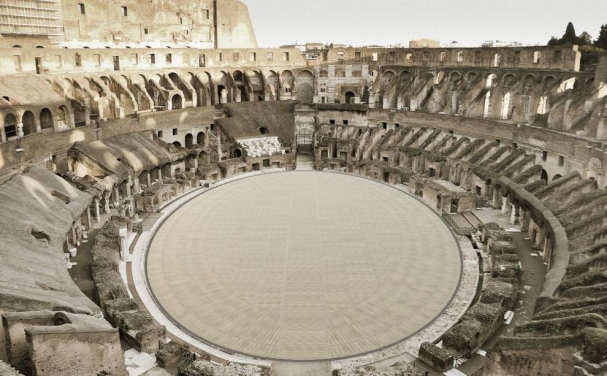 Đấu trường La Mã sẽ có sàn đấu mới sau khi tu bổ.