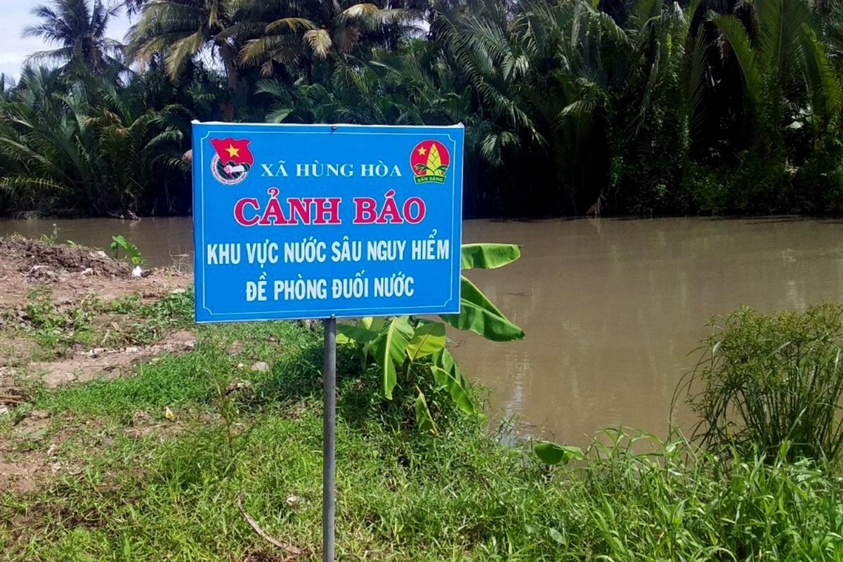 Hơn 80% khu vực có nguy bị đuối nước trên địa bàn được gắn biển cảnh báo.